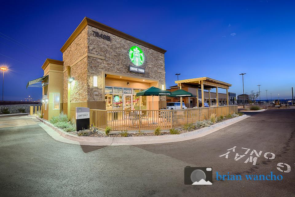Architectural Photography In El Paso Starbucks El Paso Professional Photographer