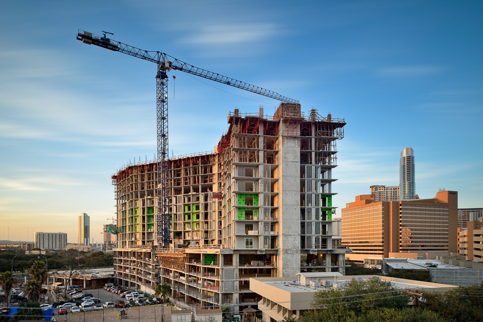 Construction Progress Photography of The Catherine in Austin, Texas