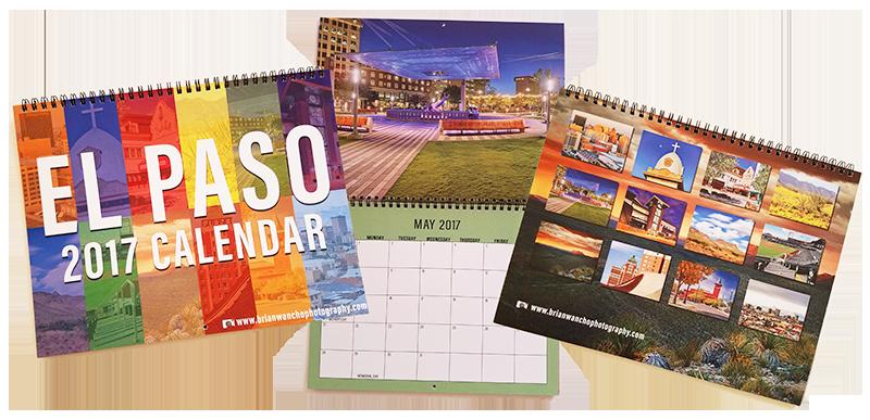 El Paso 2017 Wall Calendar