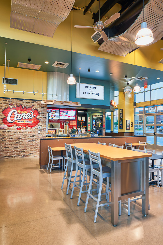 Architectural Photography for Raising Cane's