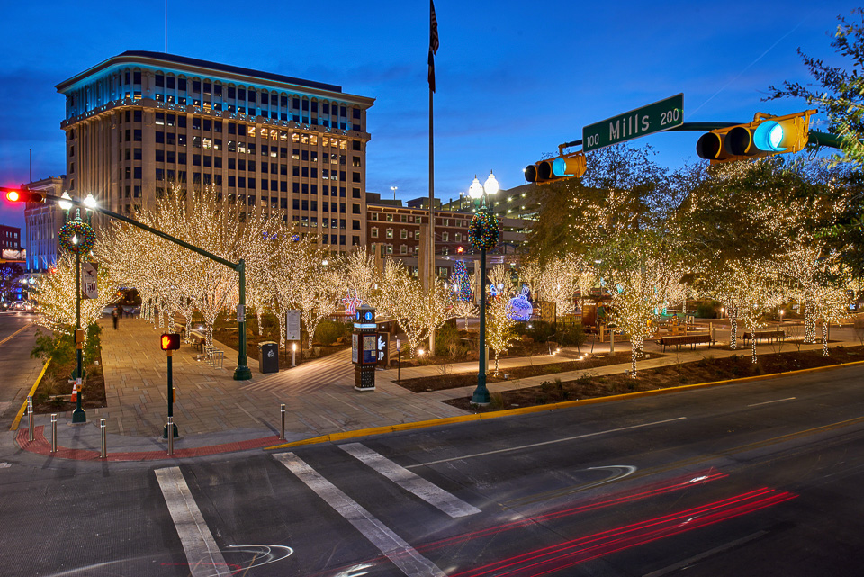 Christmas in downtown El Paso, Texas