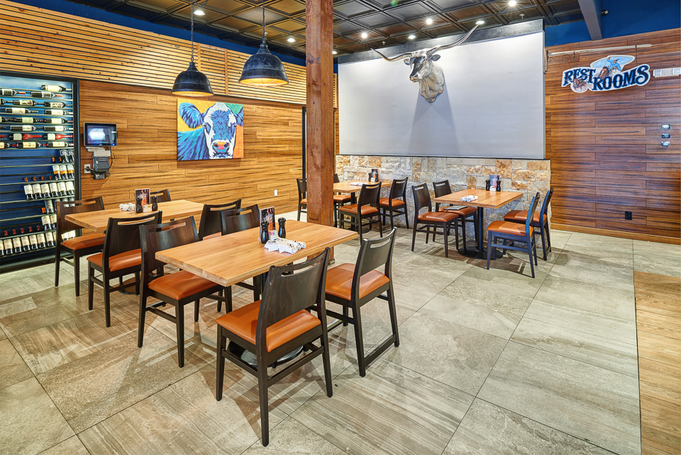 Interior Photography of West TX Chophouse
