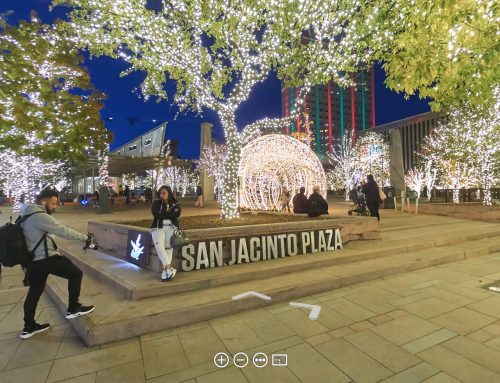 Take a Walk Through the Downtown Christmas Lights at San Jacinto Plaza
