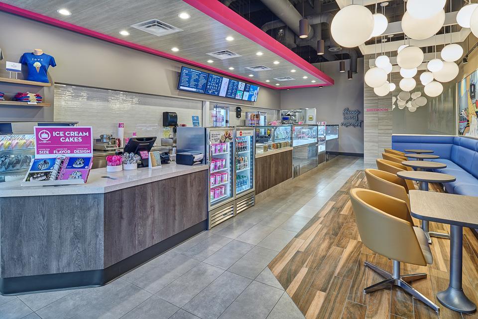 Interior Design Photography of Baskin Robbins