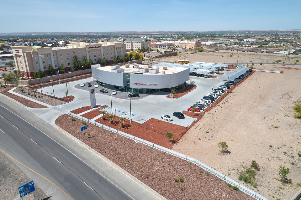 Aerial Photo of Porsche El Paso