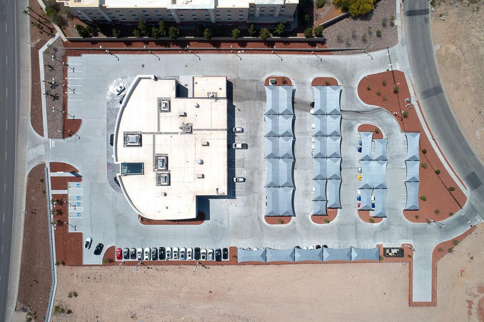 Drone photography in El Paso Porsche El Paso