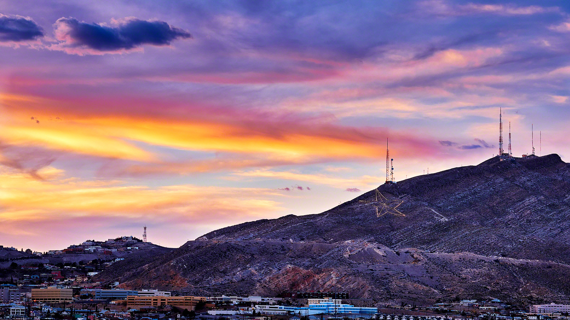 Sunset in El Paso, Texas