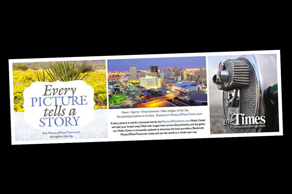 Stock Photography used in El Paso Times Ad