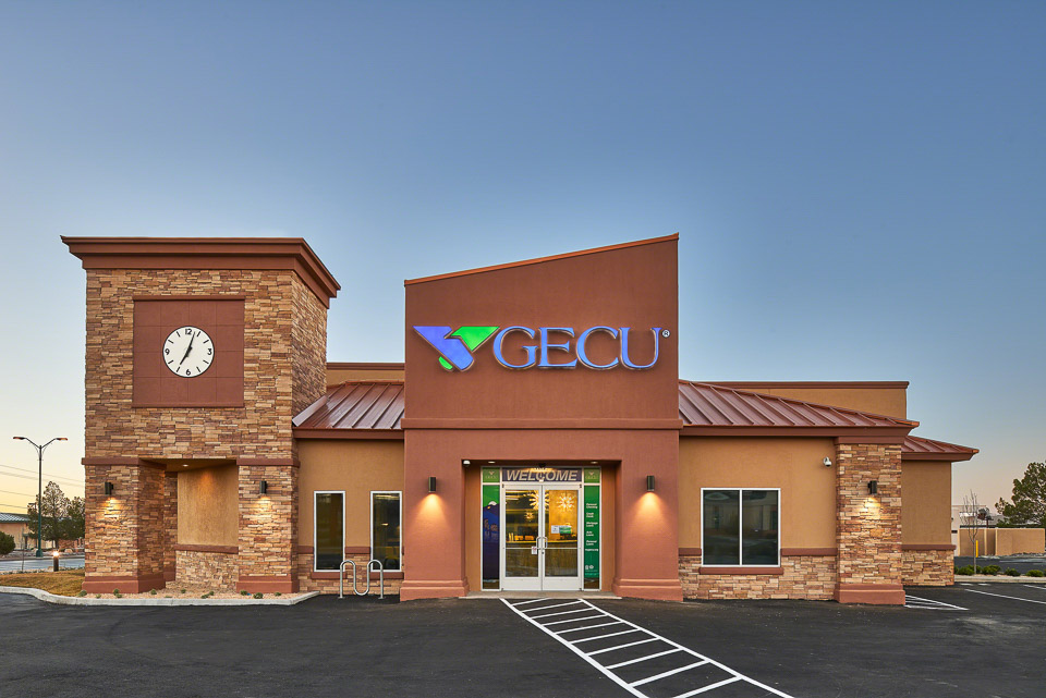 Architectural photography of GECU building in El Paso, TX