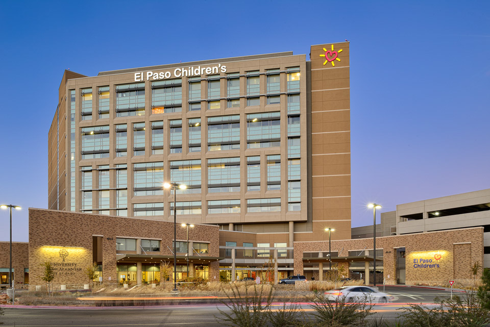 Architectural photography for El Paso Children's Hospital