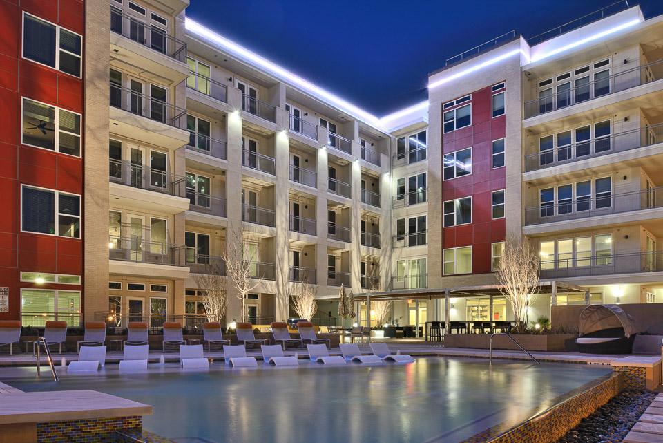 The pool at Moda in Dallas, Texas