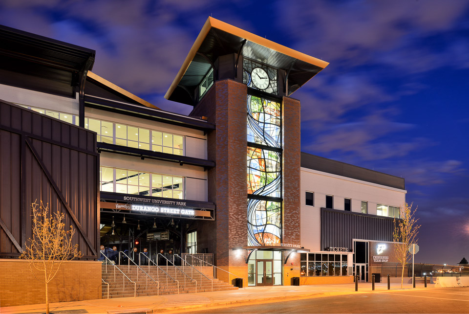 Architectural photography of Southwest University Park Clock Tower