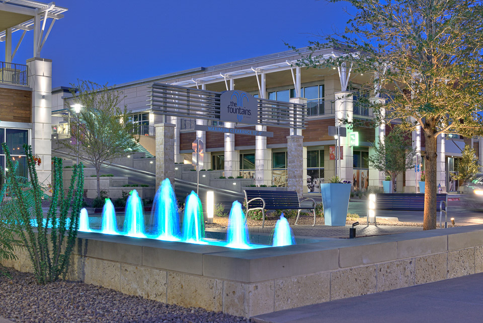 Architecture Photographer in El Paso - The Fountains at Farah