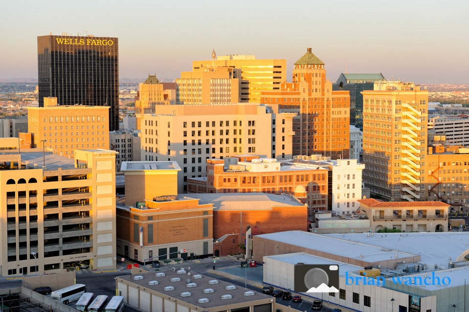 Downtown El Paso Buildings at the Golden Hour