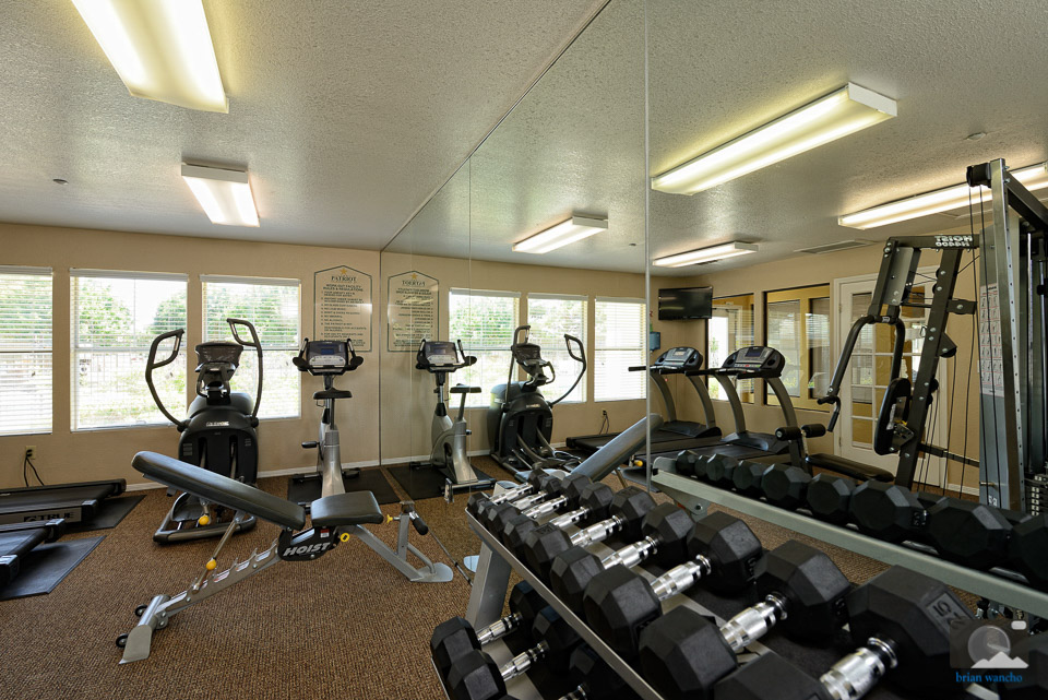 The gym at The Patriot Apartments