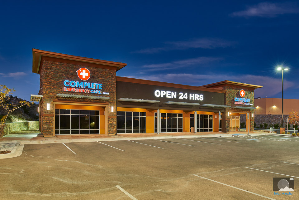Architectural Photography of Complete Emergency Care in El Paso