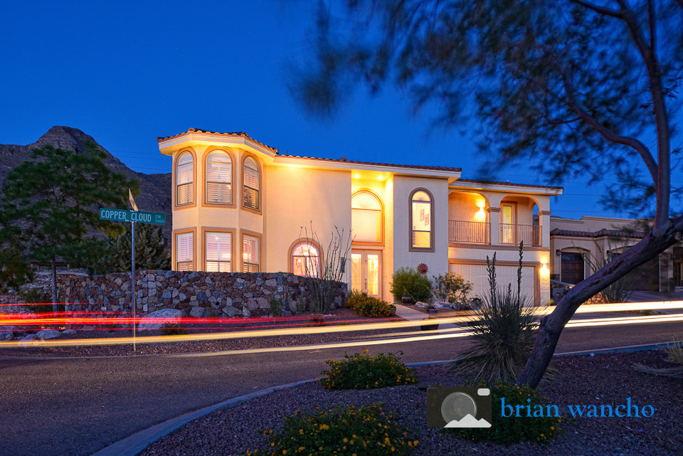 Twilight real estate photography in El Paso