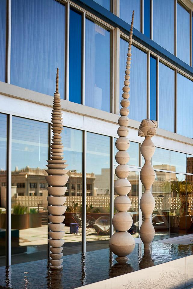 Sculpture at El Paso's Hotel Indigo