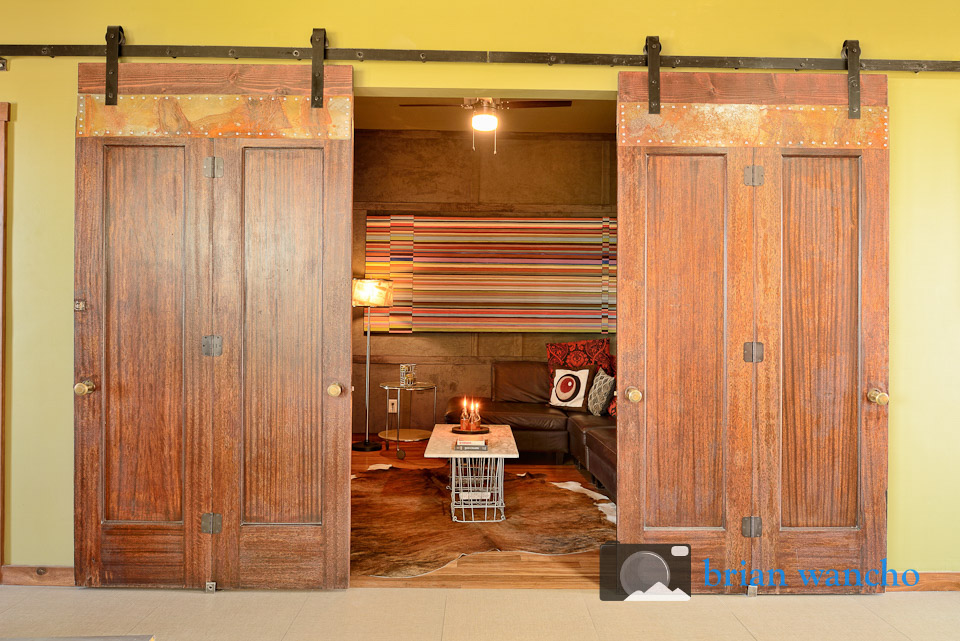antique doors hung on rails