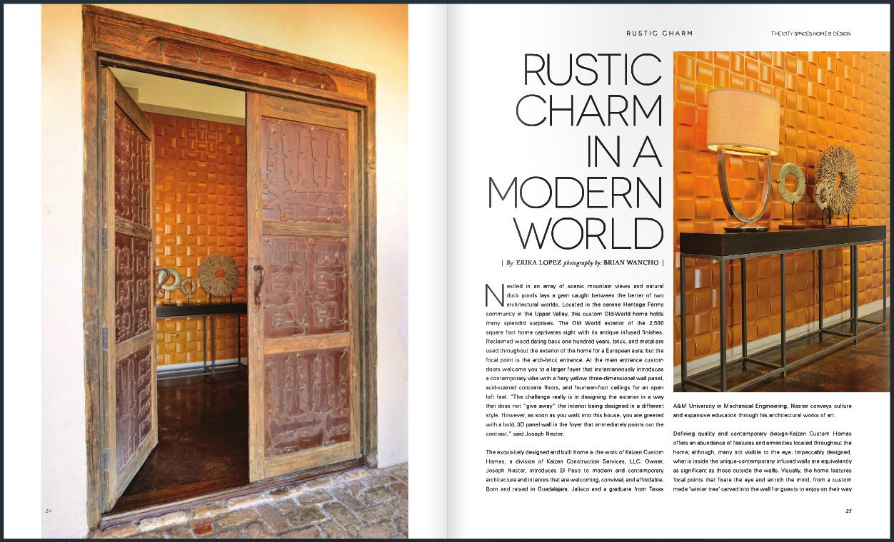 Published in The City Spaces Magazine