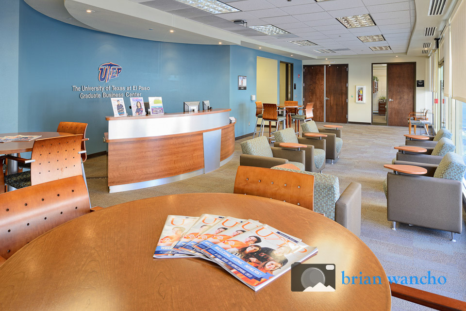 Interior photographer - UTEP Graduate Business Center