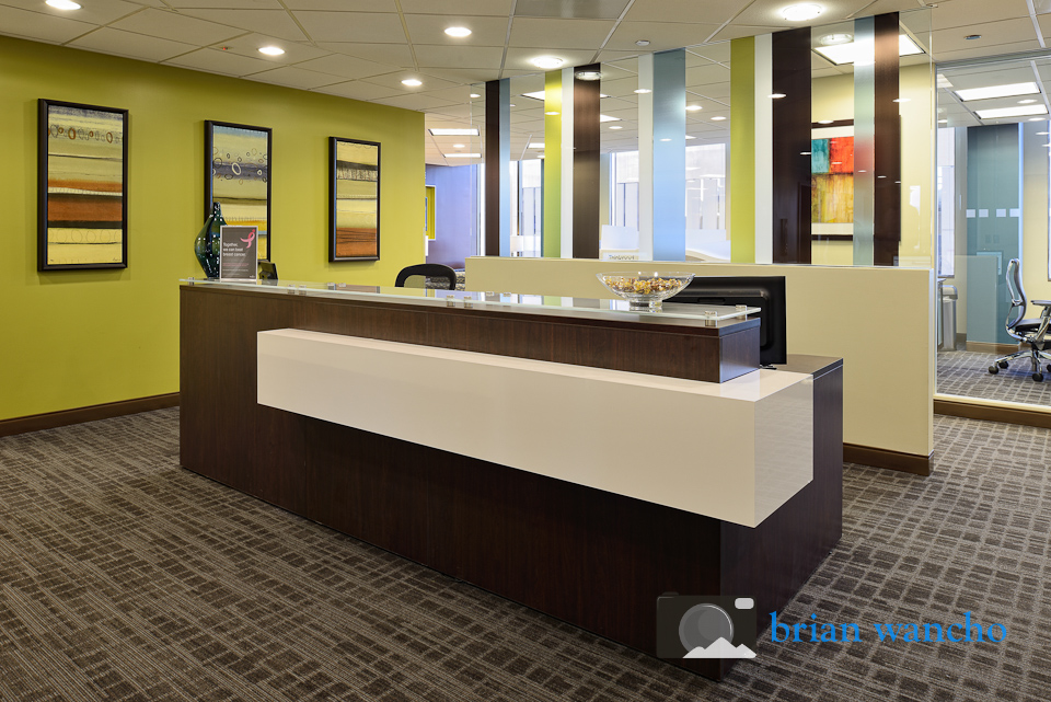 Reception area at Regus office in El Paso