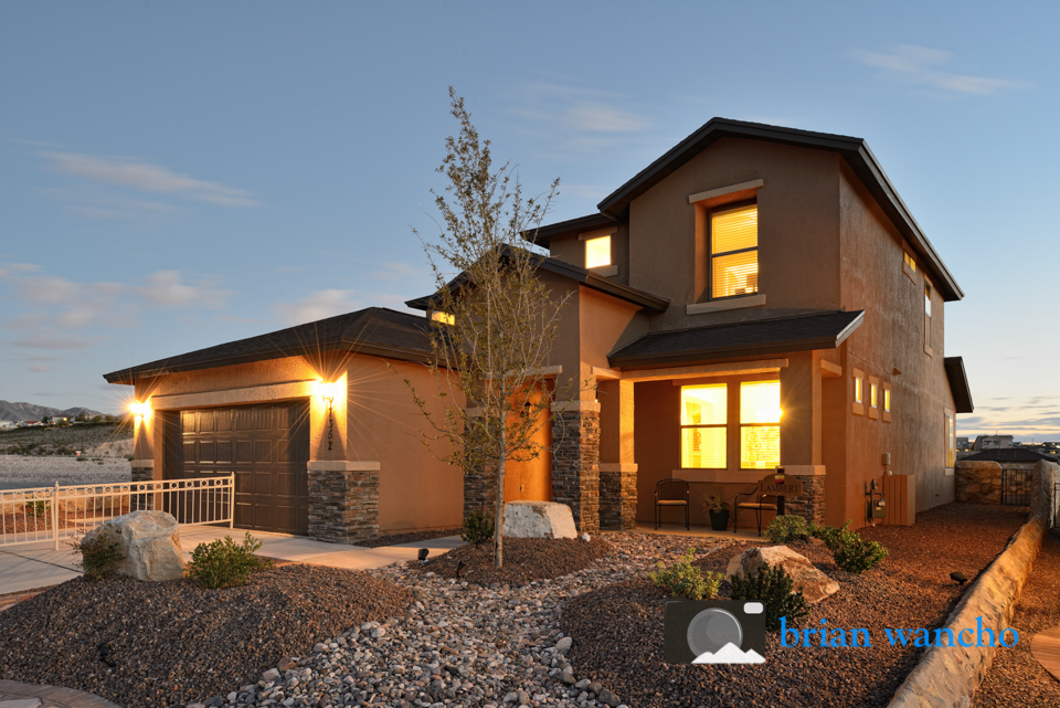 Dusk exterior real estate photography