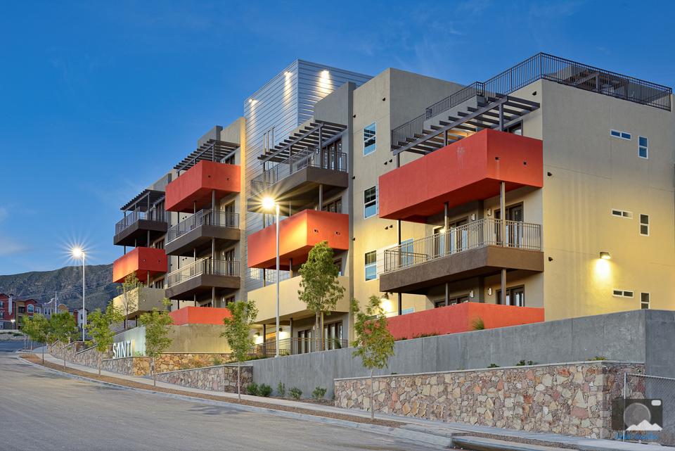 exterior luxury apartments