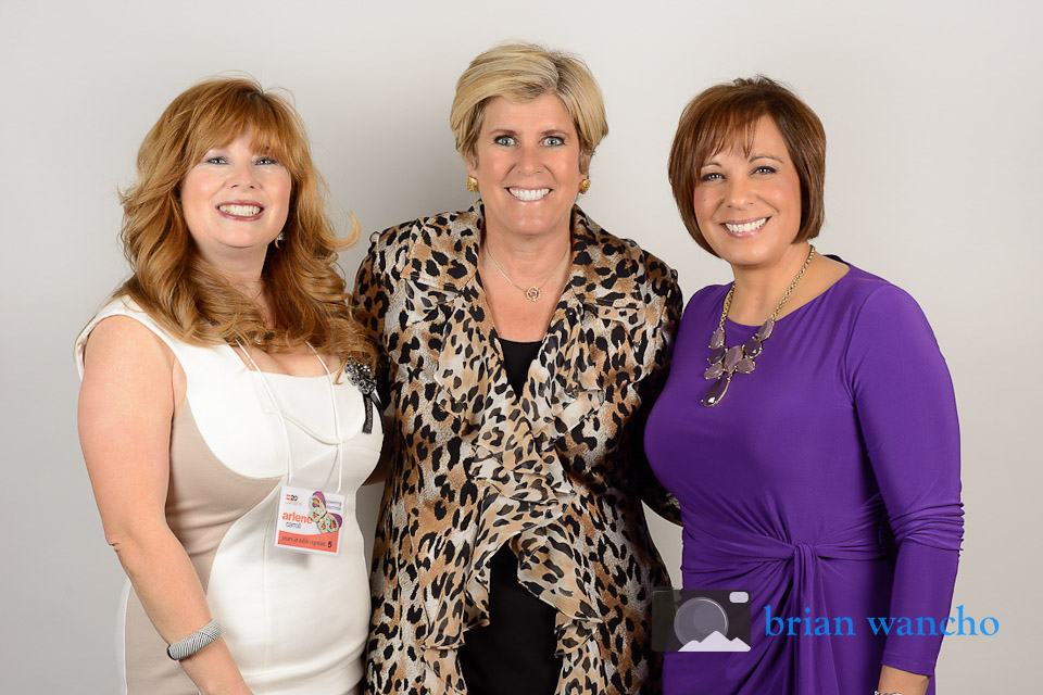 Mobile portrait studio - Suze Orman at YWCA Women's Luncheon