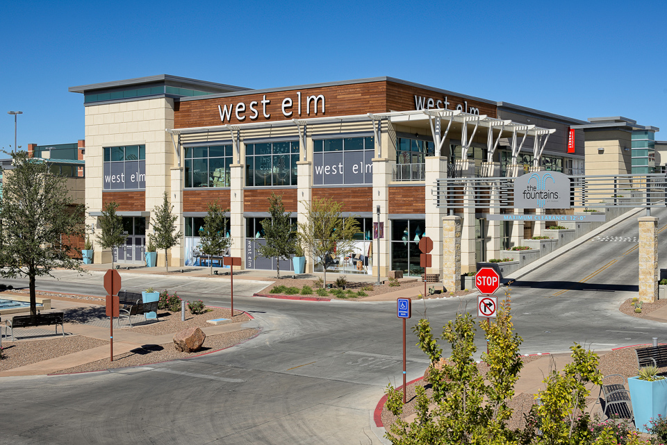 Architectural photography of West Elm in El Paso