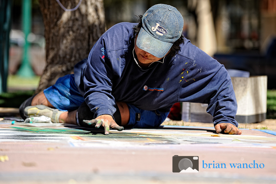 Photographer for El Paso Events - Chalk Artist Working