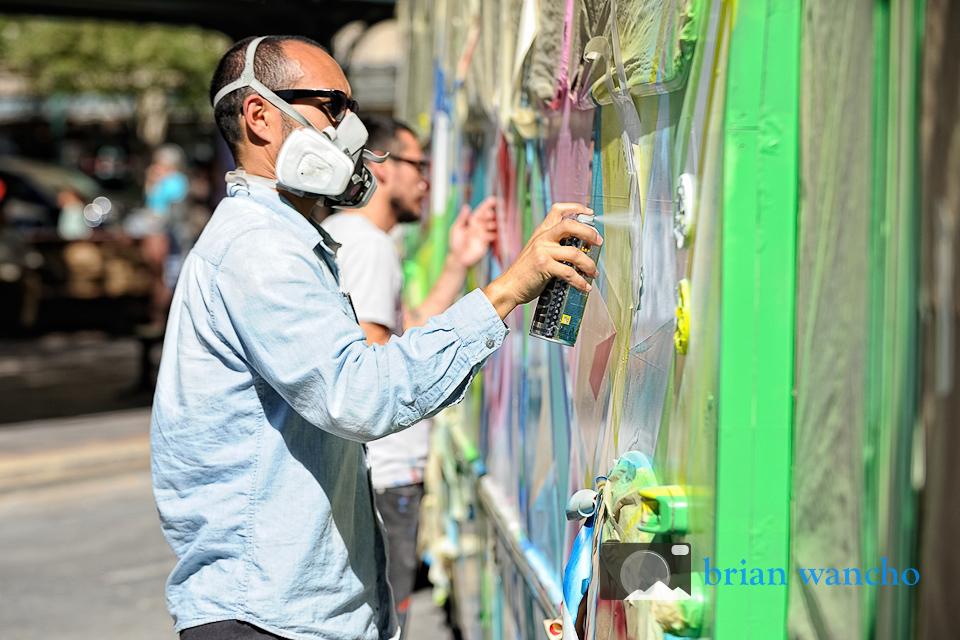 Editorial Photography in El Paso - Sun Metro Art Bus at Chalk the Block 2012