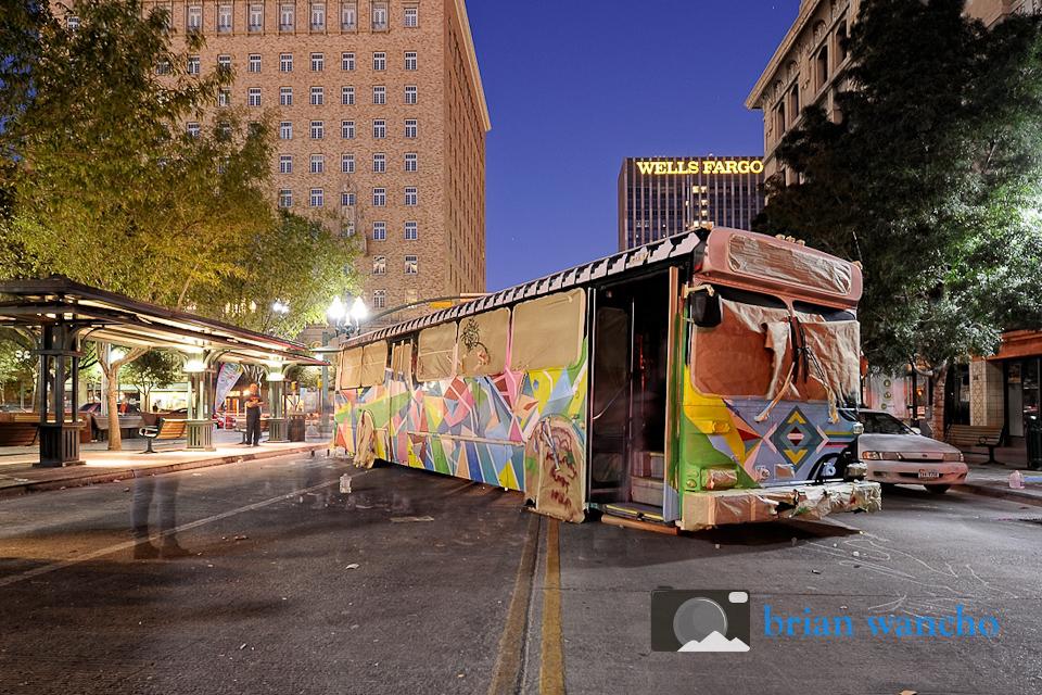Editorial Photographer in El Paso - Sun Metro Art Bus