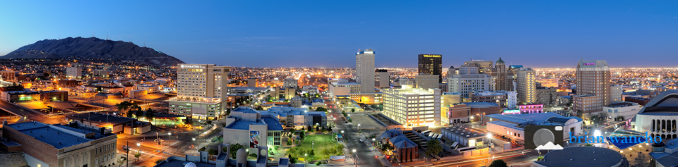 Panoramic image of El Paso Texas