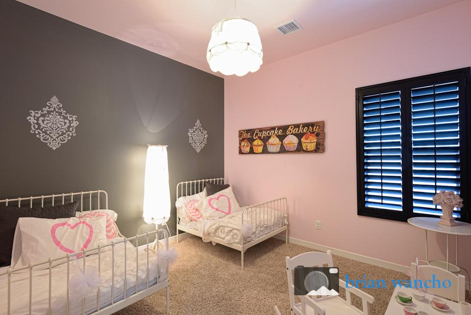 Bedroom in El Paso model home.