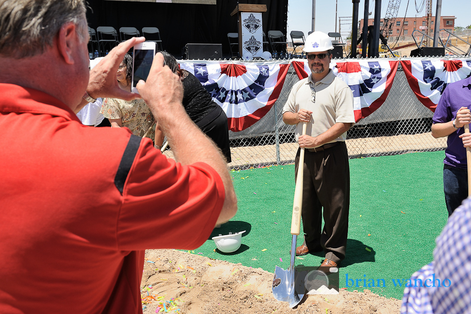 Public Photo opportunities at the groundbreaking ceremony