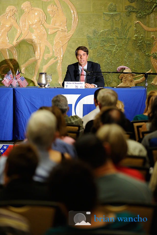Event Photographer in El Paso - Beto O'Rourke at the Telemundo Debate