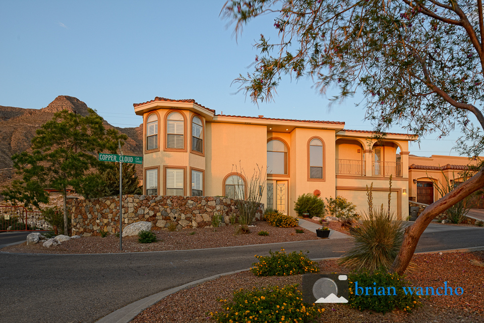 Dusk real estate photographer in el paso