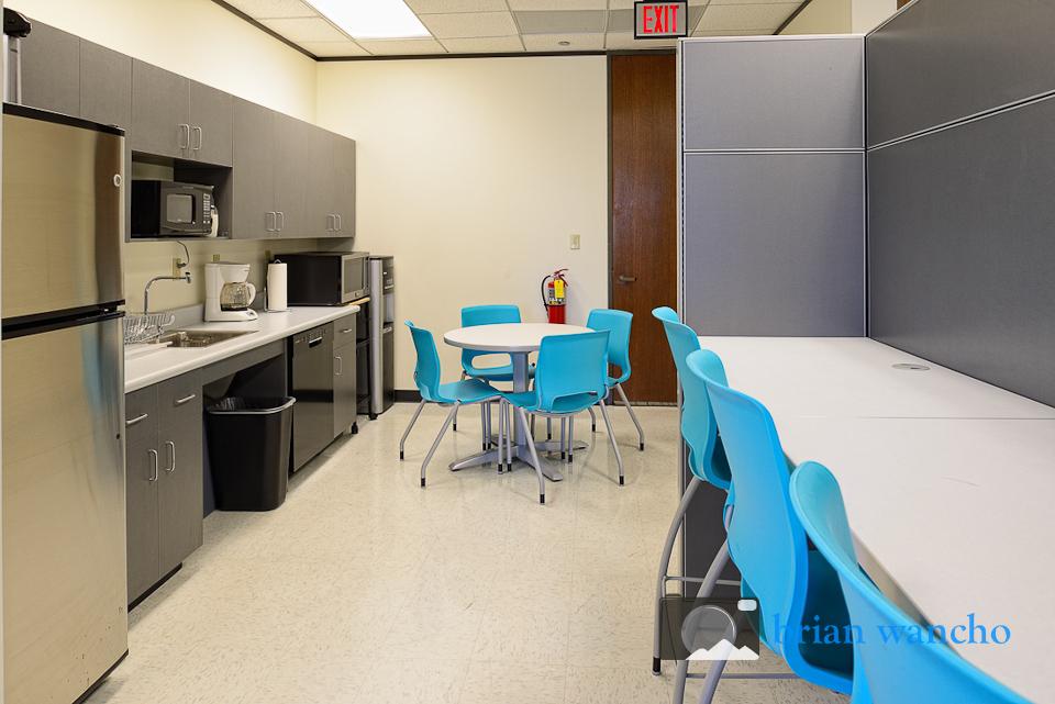 Break room at the United Way office in El Paso