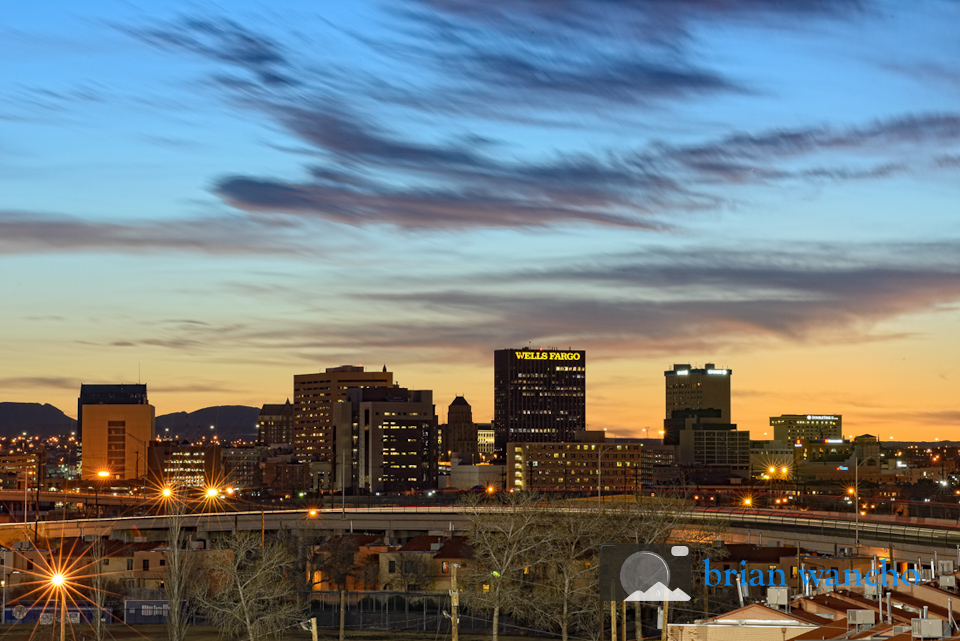 El Paso Skyline at Sunset