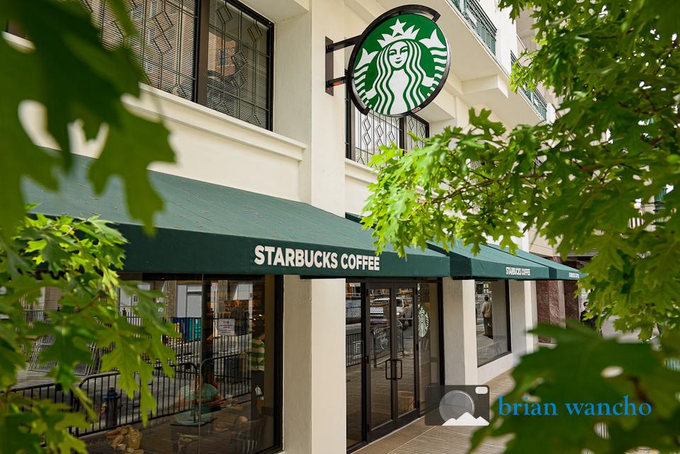 Pole aerial photography - Starbucks in El Paso